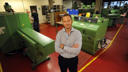 DJB Instruments in Mildenhall. Neill Ovenden is pictured.