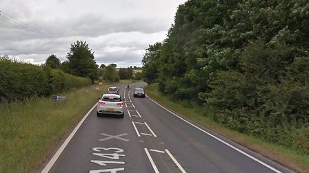 The A143 Bury Road near Stanton. Picture: GOOGLE MAPS
