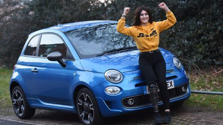 Kim Sale, a Kesgrave teenager who lost her leg to cancer, is celebrating after winning a battle with