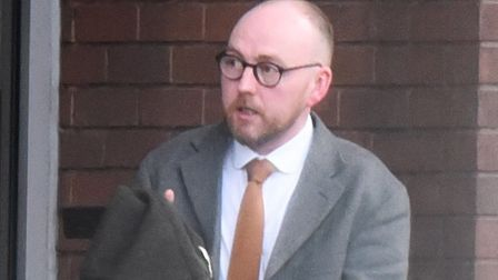 Scott Doughty leaving magistrates' court. Picture: ARCHANT