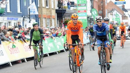 The Tour of Britain 2017 finishes in Aldeburgh High Street last September. Picture: SARAH LUCY BR