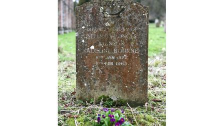 Adeline Bourne was buried in the Thurston village churchyard in 1965. Picture: ANTHONY BREEN/MID SUF