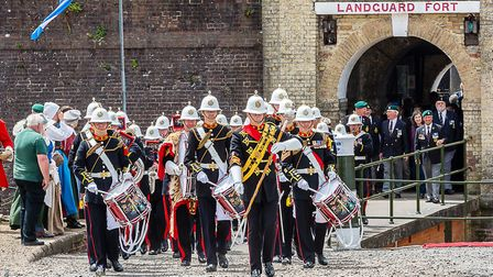 Last year's Armed Forces Day with the Royal Marine Band at Landguard Fort Picture: HARMAN HOPKINS