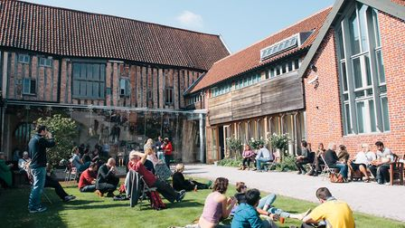 Festival goers at Dragon Hall during crime writing event Noirwich. Picture: Joanna Millington