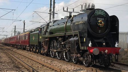 Oliver Cromwell as it passed through Ipswich en route to Norwich. Picture: SHAUN WATSON