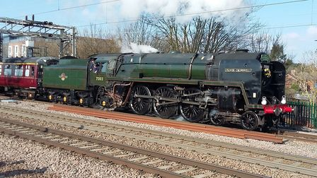 Oliver Cromwell leaving Colchester. Picture: GRAHAM FORD