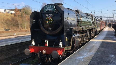 Oliver Cromwell at Norwich station. Picture: PAUL GEATER