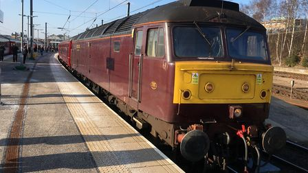 The hero of the hour - the diesel engine that pushed the stricken Oliver Cromwell and its train to N