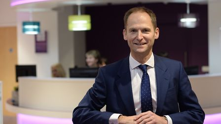 Richard Norrington, chief executive, Ipswich Building Society. Picture: WARREN PAGE