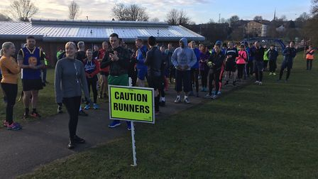 Runners, joggers and walkers assemble for the 227th staging of the Corby parkrun last Saturday. Pict