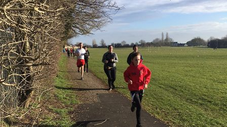 Runners taking part in the Corby parkrun at West Glebe Recreation Ground last weekend. Picture: CARL