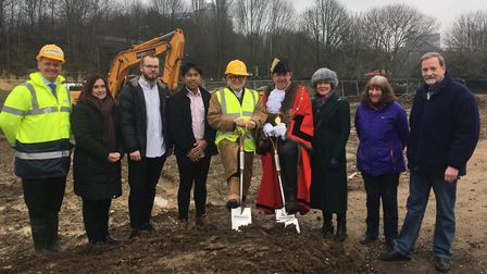 Left to right: John Marshall, Marshall Builders, Sue Warren, Bury St Edmunds and Beyond, Ben Bodewes