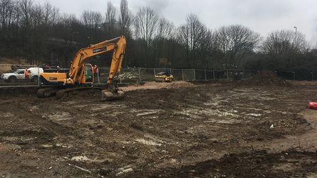 The site off Etna Road in Bury St Edmunds. Picture: MICHAEL STEWARD