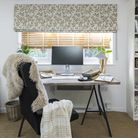 Work With The Light Liz Earle's home office, with its window dressed in Delizia Taupe Roman blinds,