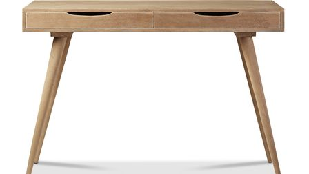 Make an Eco desk choice Radnall Desk, grey wash, �299, Swoon Editions. See PA Feature INTERIORS Hom