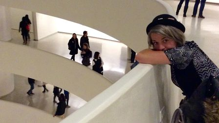Rachel, a keen artist, pictured during a visit to the Guggenheim Museum in New York. Picture: CONTRI