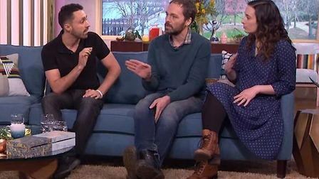 Dairy farmers Jonny and Dulcie Crickmore (centre and left) appeared on ITV's This Morning to debate