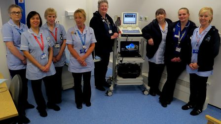 Staff pictured in the Gainsborough Wing at Colchester General Hospital, which has had a £1.6million