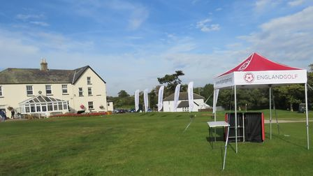 Felixstowe Ferry, looking a picture at the English Women�s County Championship last summer. Photo: T