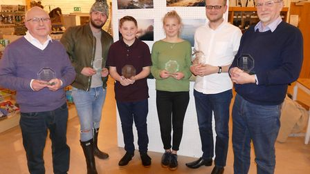 Essex Wildlife Trust photography competition winners, from left, Alan Leeks, Tony Beckwith, Max Mart