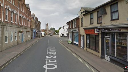 The crash took place near the clock tower. Picture: GOOGLE MAPS