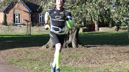 Jon Lockwood, of Saint Edmund Pacers, who completed his 112th parkrun in sixth spot at Harwich on Sa