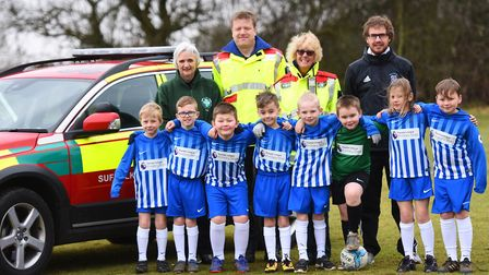 SARS football festival launch at Woolpit Primary School. Picture: GREGG BROWN
