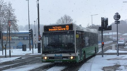 The snow disrupted public transport. Picture; PAUL GEATER