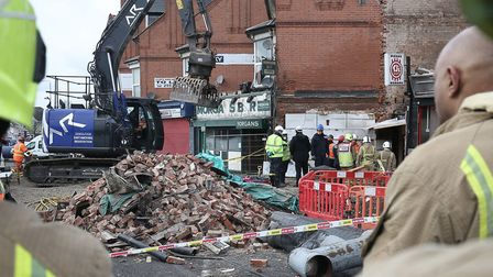 Emergency services at the scene on Hinckley Road in Leicester. Picture: Aaron Chown/PA Wire
