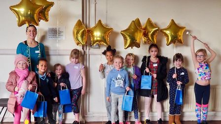 The new majorettes troupe met for the first time on Tuesday at Stowmarket Community Centre. Picture: