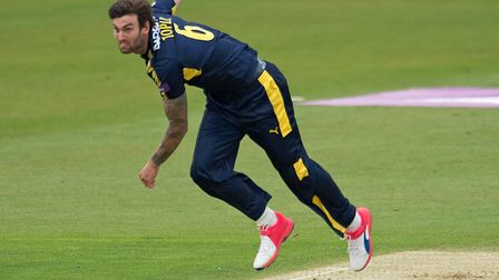 Reece Topley in action for Hampshire. Picture: HAMPSHIRE CC