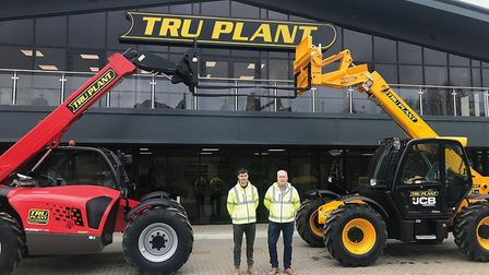 Guy Nicholls and his son Jake at the launch of TRU Plant. Photo: Rory Smith