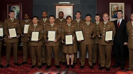 13 Air Assault Support Regiment Royal Logistic Corps' Long Service and Good Conduct Medal recipients