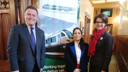 New taskforce chair Priti Patel(centre) with fellow MPs Will Quince and Chloe Smith. Picture: PRITI