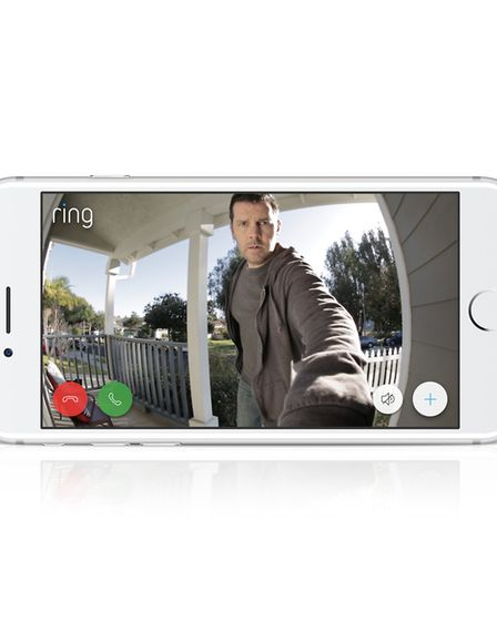 The view from a Ring home security doorbell camera. Picture: RING