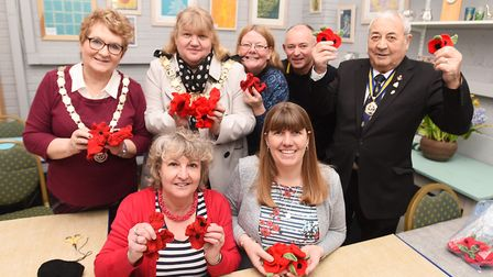Sudbury Town Council are launching their knit a poppy campaign for this year's remembrance. Picture: