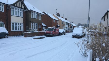 Snow in west Ipswich. Picture: PAUL GEATER