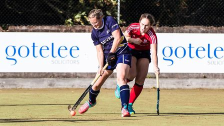 Lizzy Wheelhouse scored the goal of the season in Ipswich's win at Wapping. Picture: STEVE WALLER