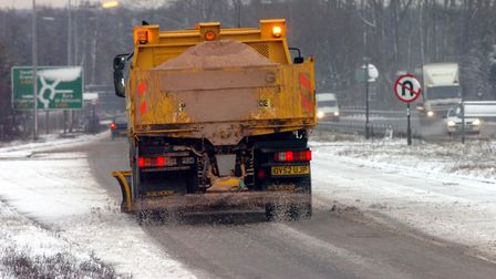 A gritting vehicle on the A11 (stock image) Picture: MICHAEL HALL