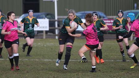 EJ Stearn scored a pair of tries for Bury at Old Leamingtonians. Picture: SHAWN PEARCE