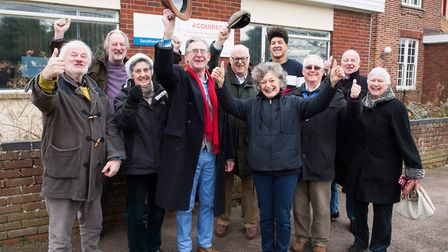 Southwold Community group SouthGen celebrate the exchange of contracts for the acquisition of the ol