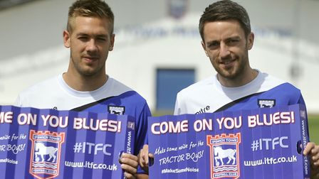 Chambers and Skuse, pictured in 2013 soon after the late moved to Ipswich.