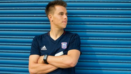 Ipswich Town player Jonas Knudsen has been called up to the Denmark squad. Picture: SARAH LUCY BROW