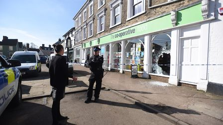 Clare Co-op has been burgled overnigh with suspects using sledge hammers and an axe. Picture: ARCHAN