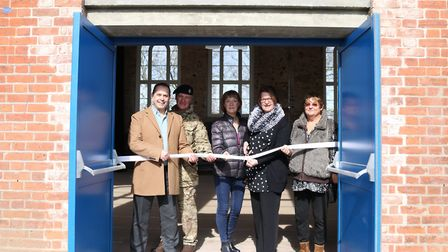 Tina Bourne is joined by ward councillors and Colchester Garrison Chief of Staff Major Jeremy Scott