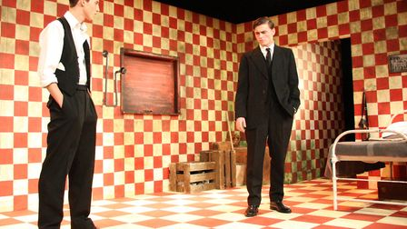 Abe Rooney and Ralph Pimlott in The Dumb Waiter by New Wolsey Young Company. Photo: Mike Kwasniak