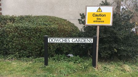 The incident happened on Dowches Gardens. Picture: AMY GIBBONS