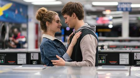 Baby (Ansel Elgort) and Debora (Lily James) in Baby Driver. Picture: SONY PICTURES / WILSON WEBB