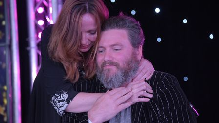 Mat Bayfield with his wife Kelly at the Stars of Suffolk awards. Picture: SARAH LUCY BROWN