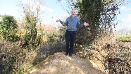 Land owner Terry Fordham has been surprised to see the badgers' activity increase over the past week